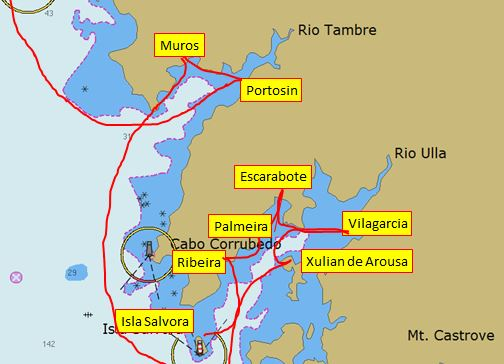 Sailing Letter July 2014, Spain/ Gijon to Ria Arousa (2/6)