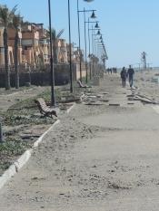 Beach boulevard damage