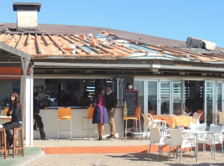 Storm damage to favourite restaurant