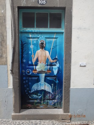 Door painting seems to be a serious business in Funchal