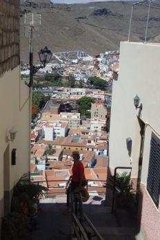 Village built on steep hills