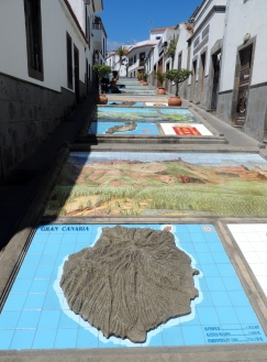 Tiles of the different Canary Islands at Firgaz