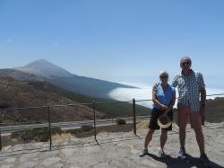 Teide mountain in the background. Photo shot taken at 2200 meter