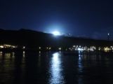 Full moon rising over Tarrafal, Sao Nicolau