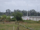 Tina Princess, safely moored in the Suriname river
