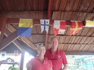 GKSS (our home sailing club) burgee, proudly presnted at Domburg Marina Bar / Restaurant