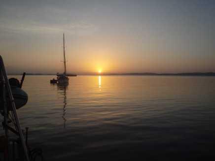 Ankring på Gatun lake
