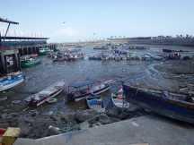 Fiskehamnen vid lågvatten