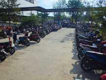 Många motorcyklar blir det